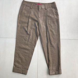 Alice + Olivia Metallic Cropped Cuffed Pants P71